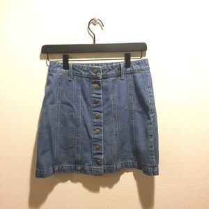 Button up jean skirt JUNIOR MEDIUM